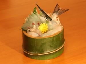 竹の器(刺身)