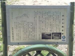 竹の径 古墳垣