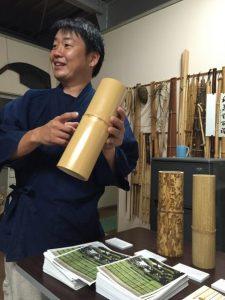 竹で作る指輪、製作体験教室