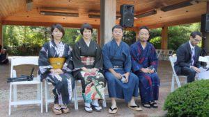 アンダーソン庭園で竹工芸の実演しました