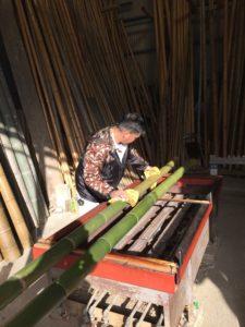 竹の火あぶり