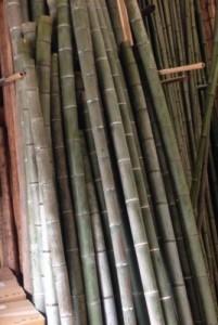 徳利の材料の青竹