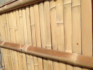 竹垣の洗い方 建仁寺垣の洗い方