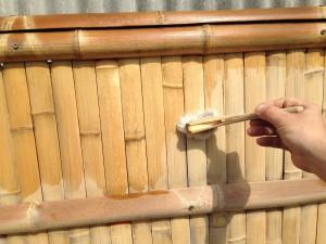 竹垣の洗い方とメンテナンス