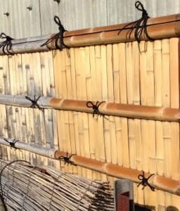 竹垣のメンテナンス