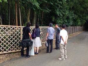 竹の径 取材 竹垣