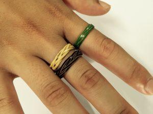 体験教室:竹のひごで編む指輪教室