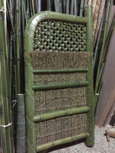 青竹の玉袖垣