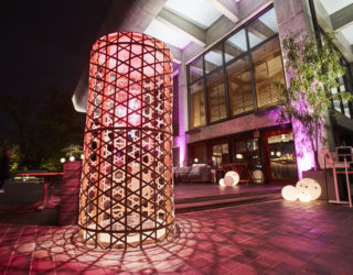 京都岡崎で桜色に輝く竹オブジェ、ライトアップのお知らせ