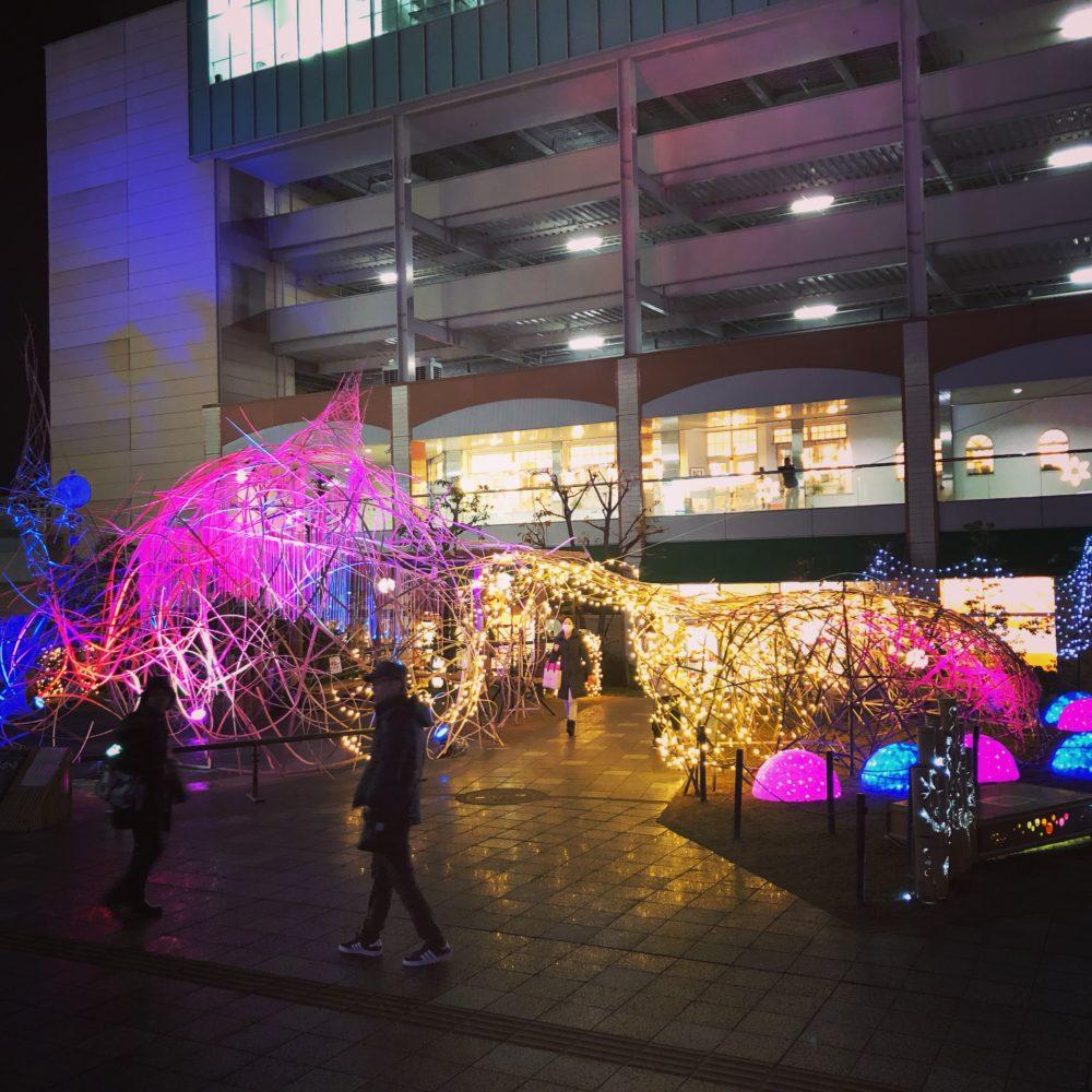 長岡京バンビオイルミネーション2018