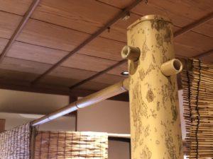 移動式の竹の茶室