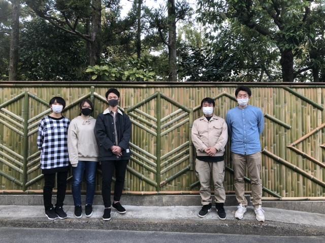 新しいスタイルの竹垣を立命館の学生さんと作る長岡銘竹株式会社