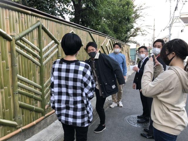新しいスタイルの竹垣を立命館の学生さんと一緒に作る長岡銘竹株式会社
