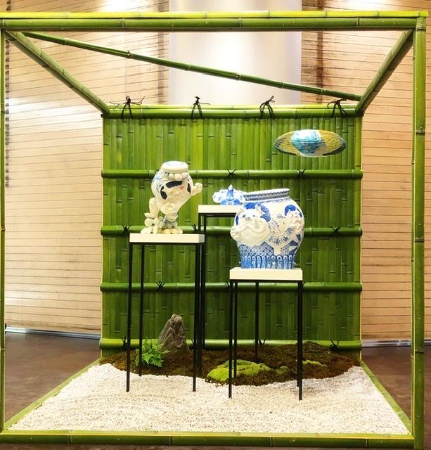 阪急メンズ大阪で開催中侘び寂びがテーマの展示
