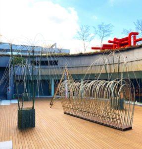 竹のインスタレーション